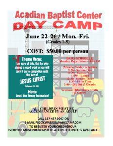 A.B.C. Day Camp 2020